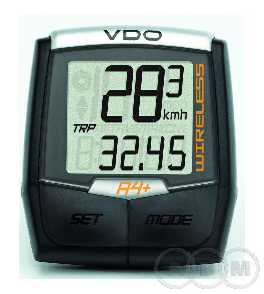 Велокомпьютер VDO A4+  беспроводной 4 ф-ции Германия (4-1101 м)