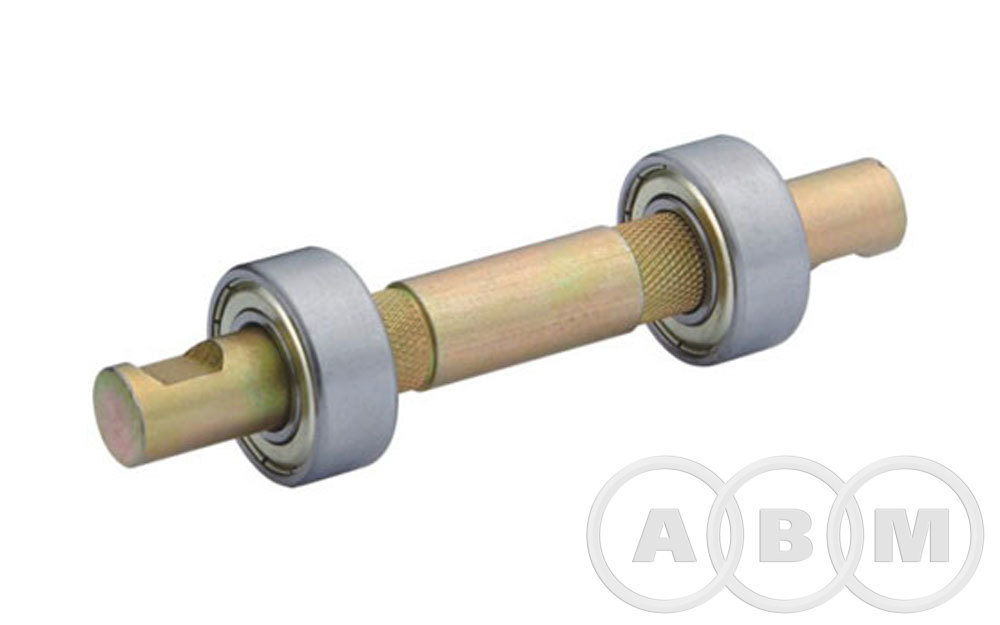 Вал каретки c подшипником, гладкий под клин (140мм)