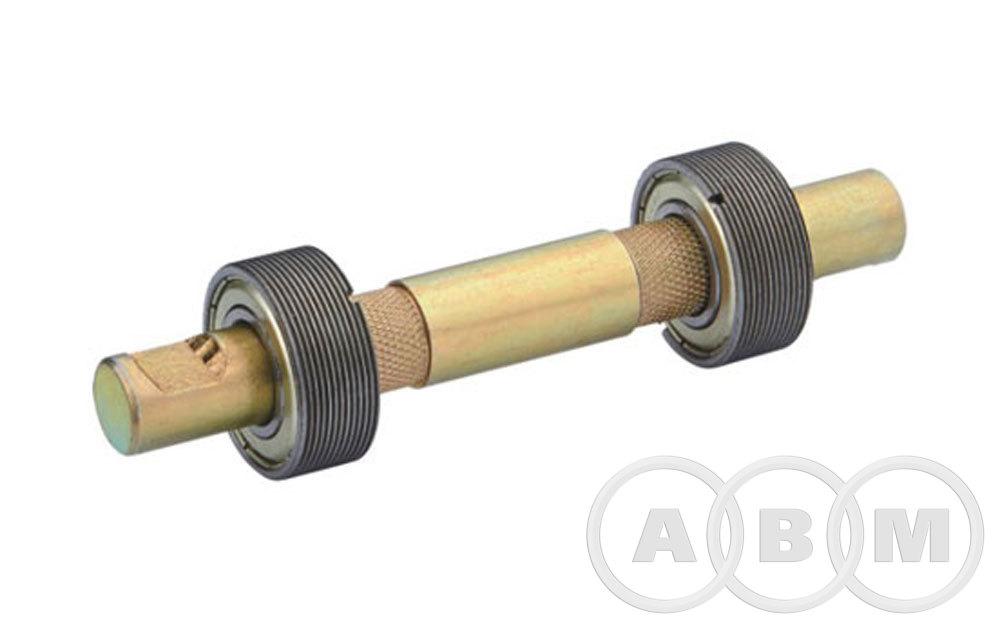 Каретка резьбовая, вал гладкий под клин (140мм)