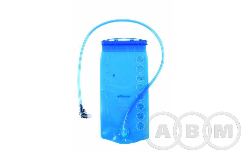 Фляга/гидропак 2л  прозрачно-голубая.