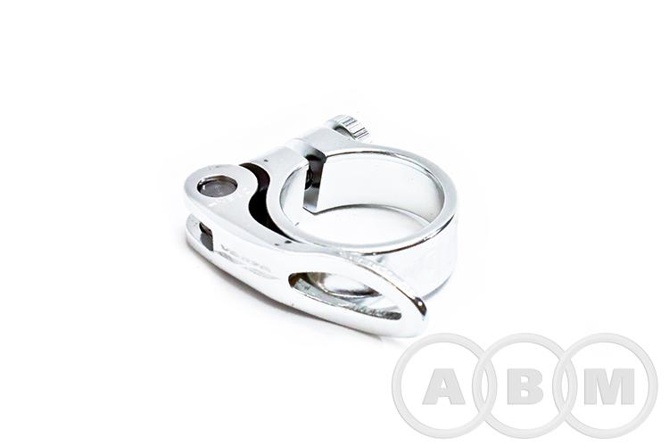 Хомут VZ-B11C-001, подседельного штыря, ф34.9 серебро VENZO