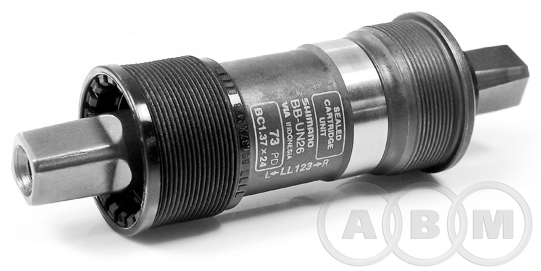 Каретка-картридж EBBUN26C23X 122,5х73 мм  с болтами  SHIMANO