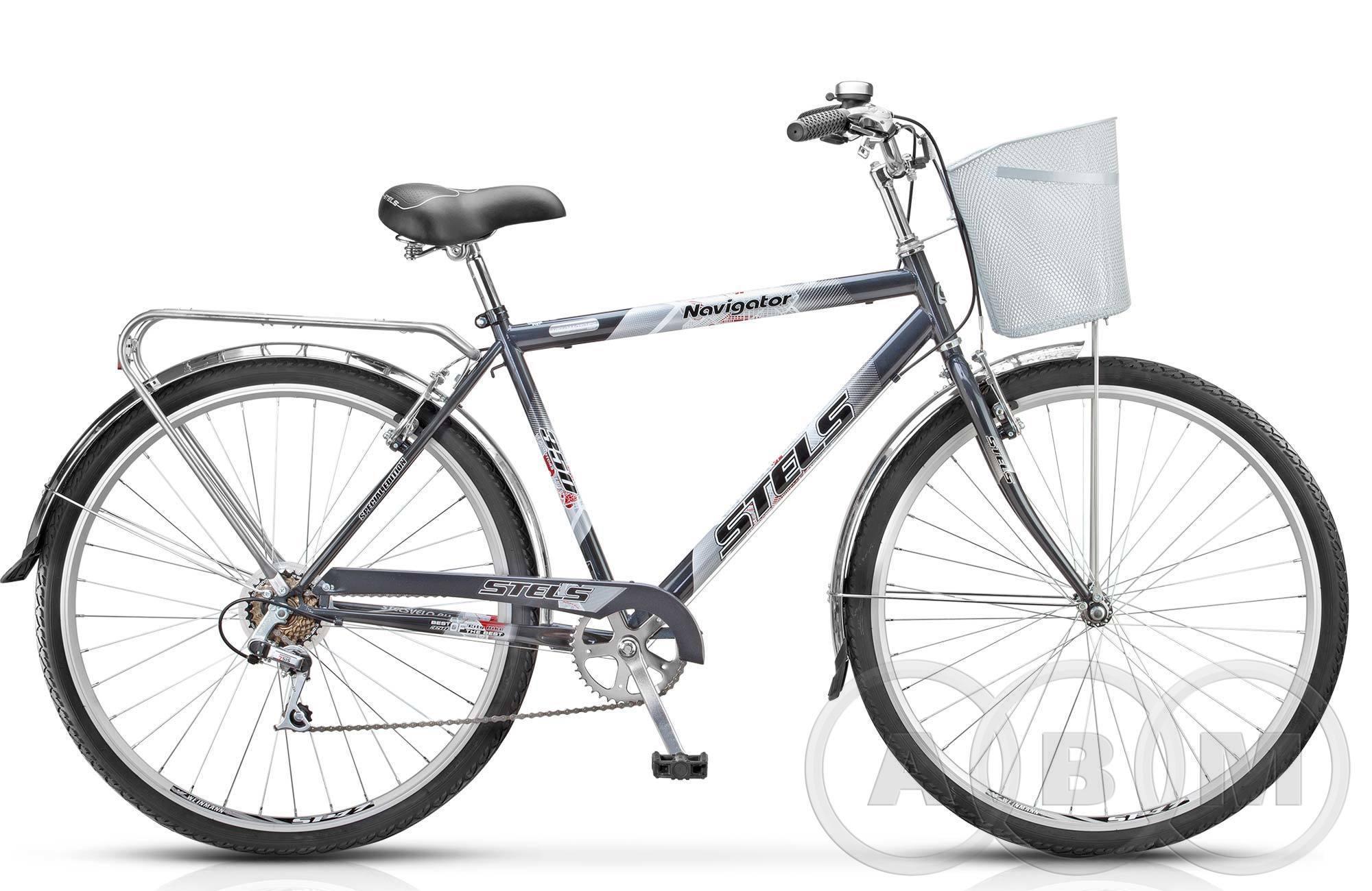 28 Велосипед Stels Navigator 350 Gent  с корзиной 7 ск.
