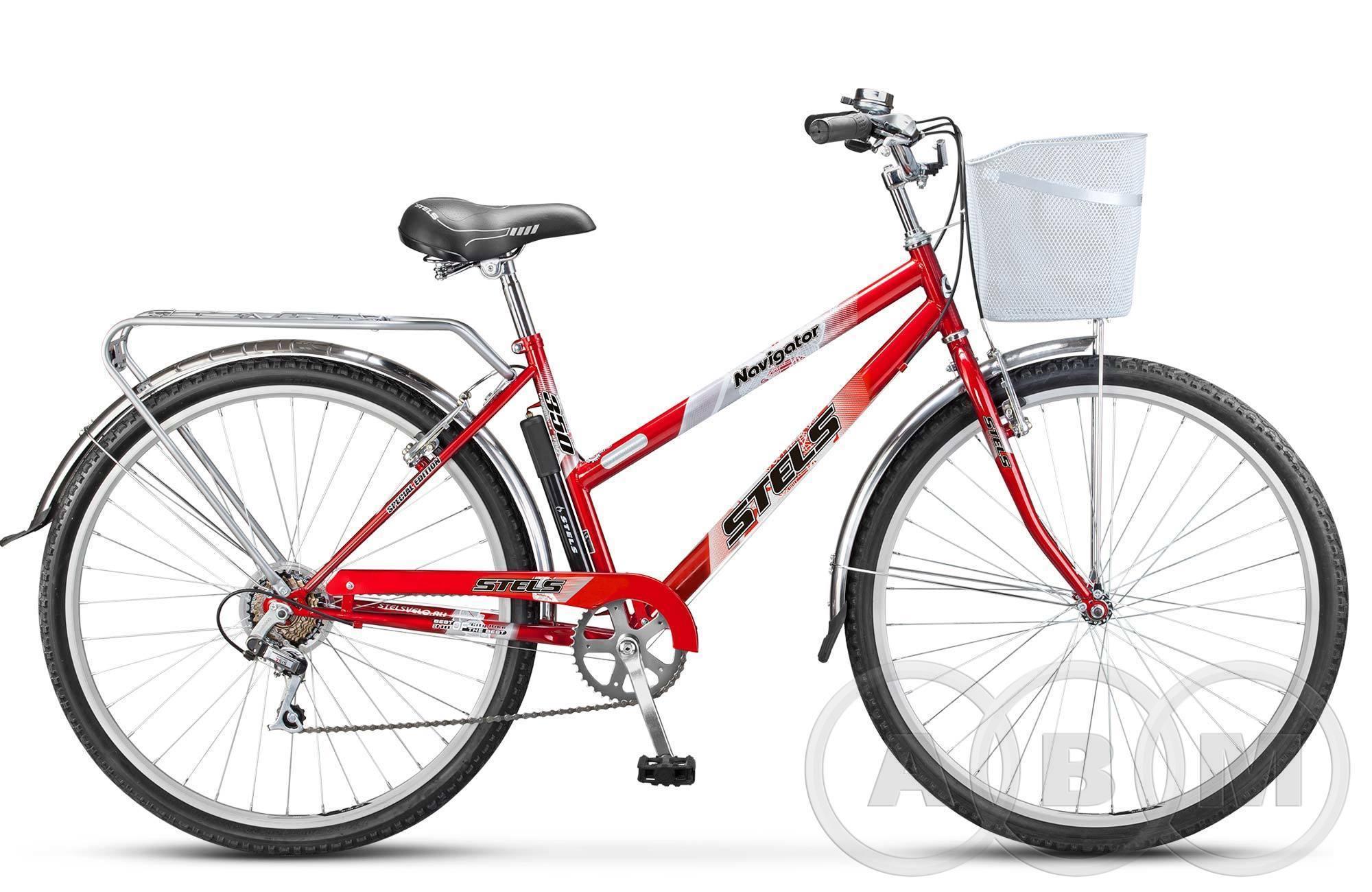 28 Велосипед Stels Navigator 350 Lady с корзиной 7 ск.