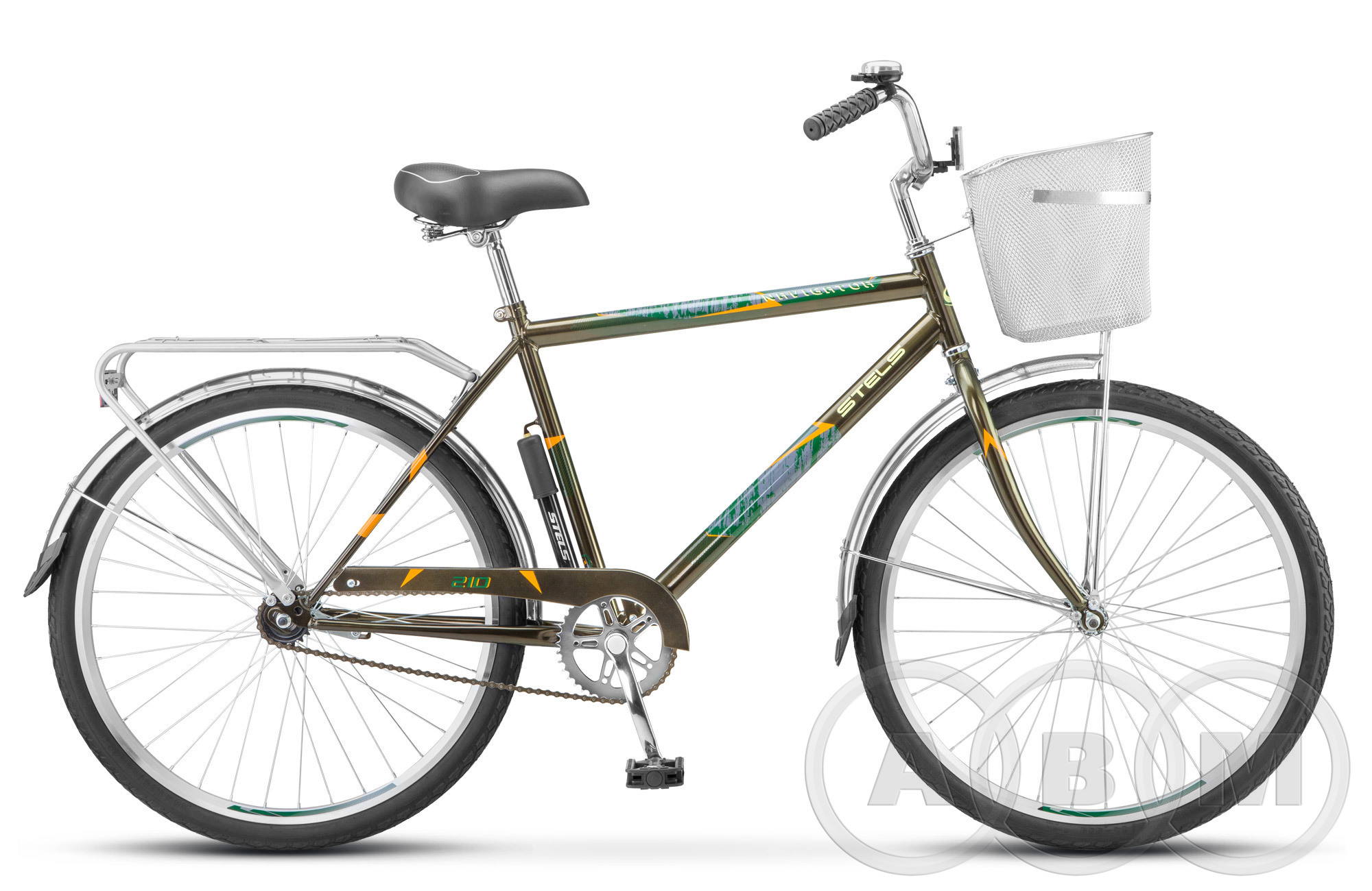 26 Велосипед Stels Navigator 210 Gent  с корзиной 1 ск