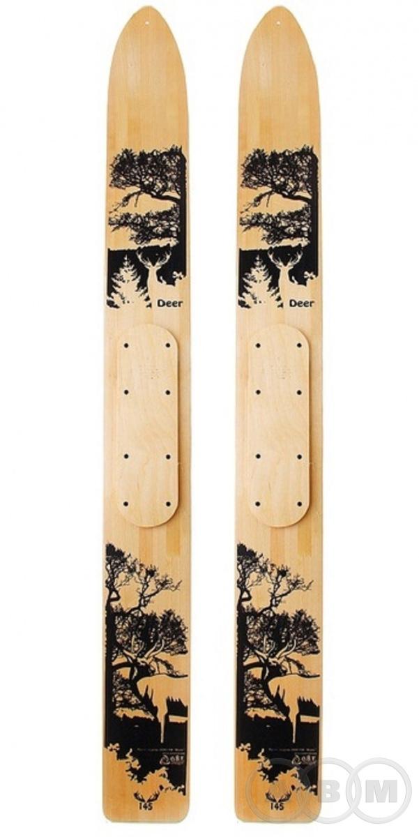 Лыжи промысловые DEER дерево шир. 145мм