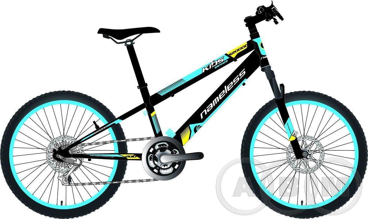 Велосипед 20 NameLess S2000D alu disk хардтейл 6 ск