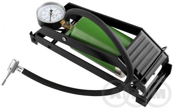 Насос ножной  стальной зеленый FP9807B