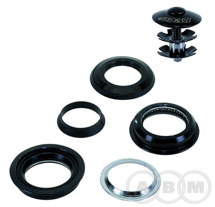 Рулевой набор алюм/сталь полукартр.1 1/8  28,6/44/30 черный NECO 5-390320