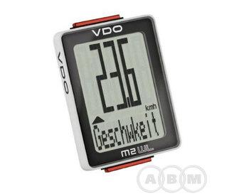 Велокомпьютер 4-30021 8 функций NEW VDO M2WL черно-белый (м)