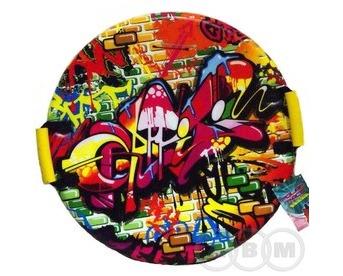 """Санки-ледянки """"POLAR-RACER"""" Graffiti   55см/25мм (21"""")"""