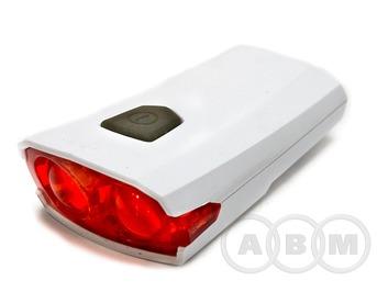 Фара задняя велосипедная XC-122R 2 светодиода,USB-шнур для зарядки