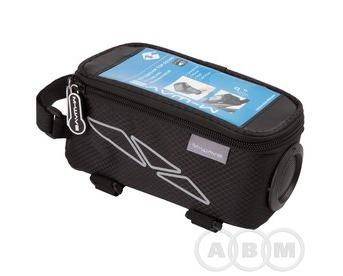 Сумочка-чехол+бокс на раму для смартфона 185х90х95 мм   черная M-WAVE 5-122377