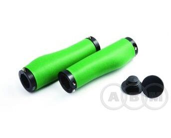 Ручки на руль силиконовые 130мм антискольз.CS-003 с 2 фиксат. зеленые CLARK'S  3-427