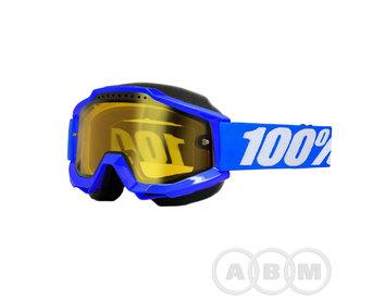 Маска 100% Accuri Snowmoble Reflex Blue/Yellow Venied Dual Lens