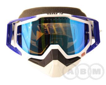 Маска 100% Racecraft  Snowmoble Cobalt Blue/ Mirror Blue Venied Dual Lens