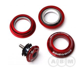 Колонка рулевая VENZO, 1-1/8-1,5, VZ-B09M-005, красная.