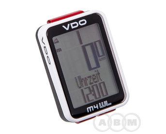 Велокомпьютер 4-30041 12+16 функций NEW VDO M4WL черно-белый (м)
