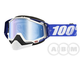 Очки 100% Racecraft  Snowmoble Abyss Black /Mirrow Silver Venied Dual Lens w/Pins (50113-001-02)